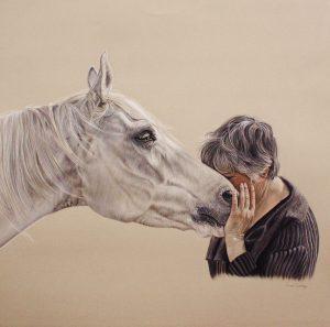 Dierenvriend, 2014, Pastel, 50x50