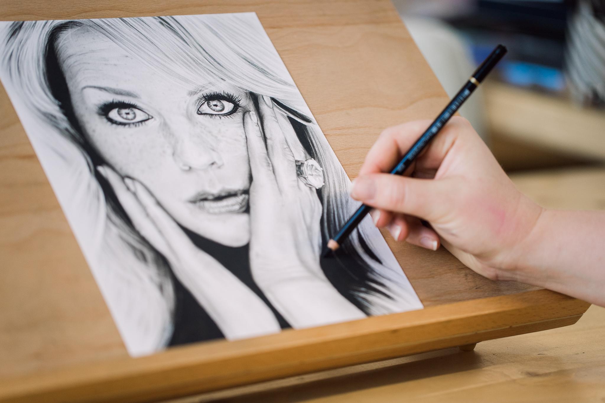 Hoe maak je zwarte details in je tekening?