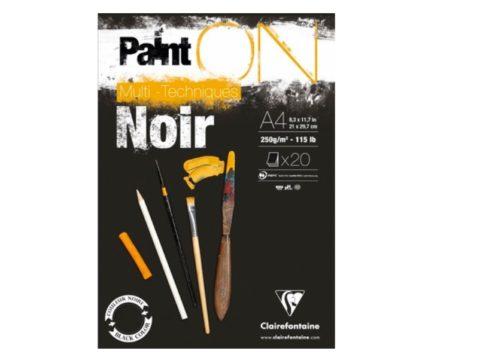 paint on zwart A4