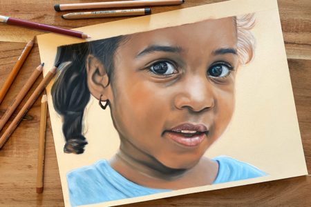 Uitbreiding online cursus mensenportret in pastel: Meisje