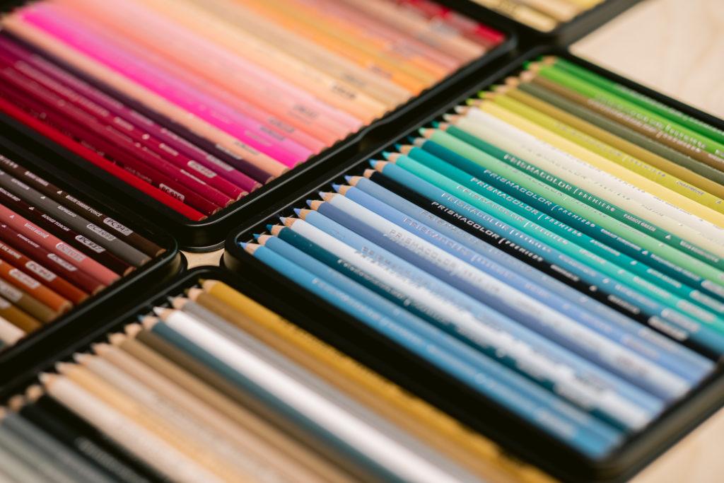 prismacolor potloden uitgepakt