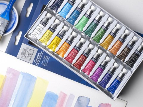 884955074237-W&N COTMAN WATERCOLOUR 20X5ML SET [LIFESTYLE SQUARE] 884955074237